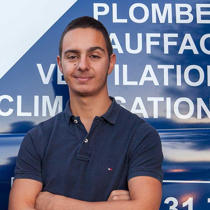 Mickaël DA COSTA Ouvrier de l'entreprise Génie Fluide