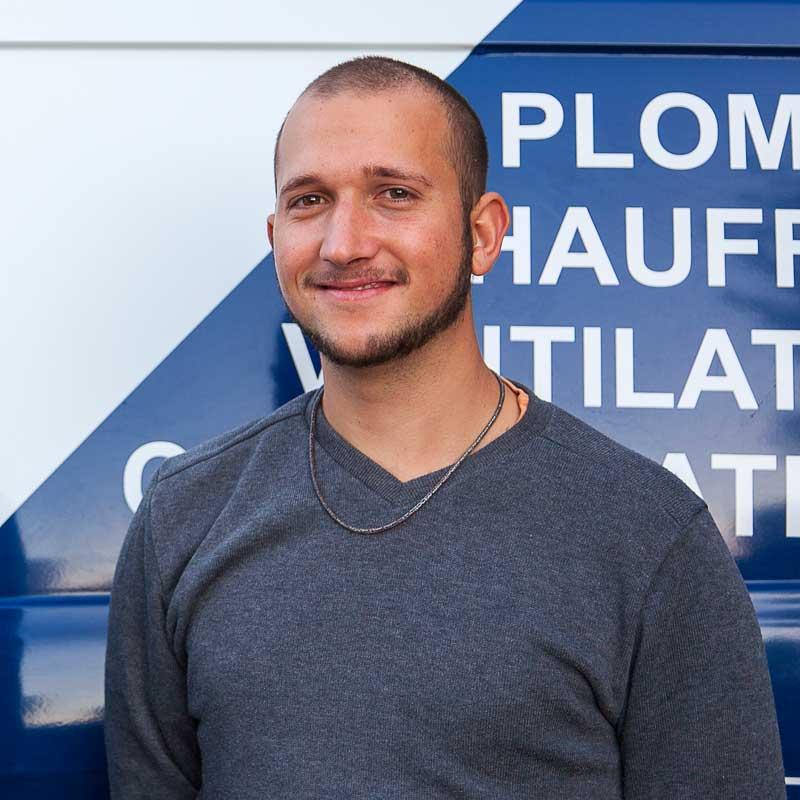 Lucas PRUNIER en contrat pro de l'entreprise Génie Fluide