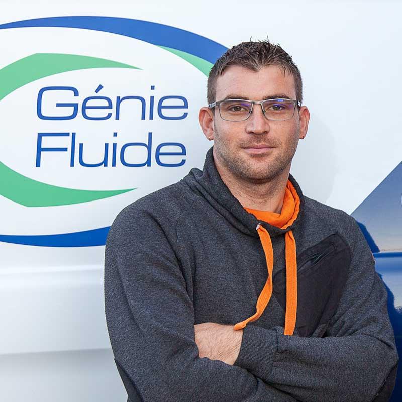 Maxime LEVEQUE Associé et Chargé d'affaires de l'entreprise Génie Fluide
